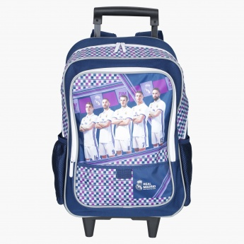Real Madrid Printed Trolley Backpack