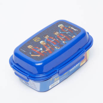 FC Barcelona Lunch Box with Clip Closure and Trays