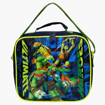 Ninja Turtles Printed Lunch Bag with Zip Closure