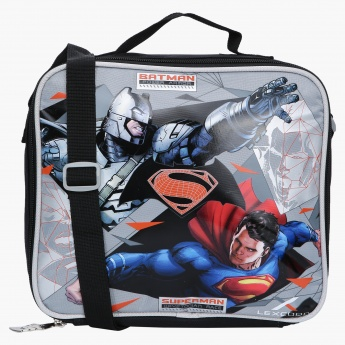 Superman Printed Lunch Bag with Zip Closure