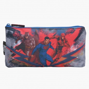 Justice League Print Flat Pencil Case