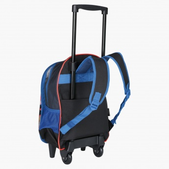 Superman Printed Trolley Backpack