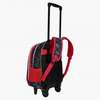 Saban Printed Trolley Bag with Two Wheels