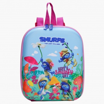 The Smurfs Printed Lunch Bag with Shoulder Straps