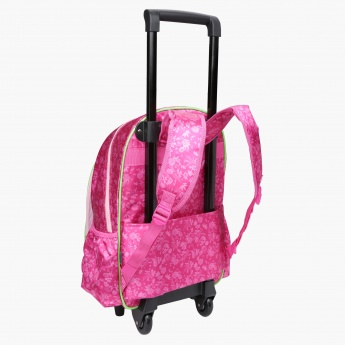 Dora the Princess Printed Trolley Backpack with Zip Closure