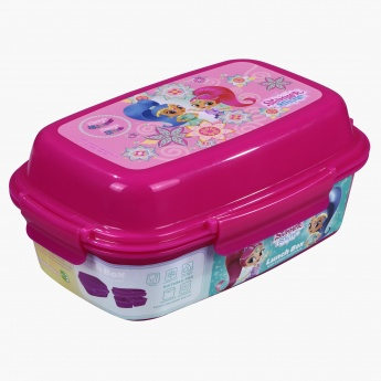 Shimmer and Shine Printed Lunch Box with 4-Clip Closures and 3 Trays