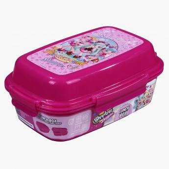 Shopkins Printed Lunch Box with 4-Clip Closures and 3 Trays