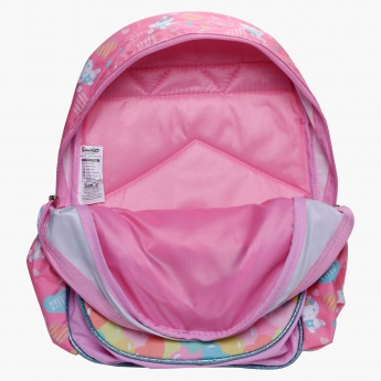 Hello Kitty Printed Backpack with Dual Straps