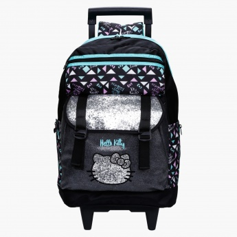 Hello Kitty Printed Trolley Backpack