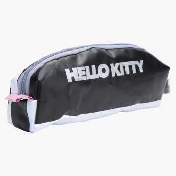 Hello Kitty Printed Pencil Pouch with Zip Closure