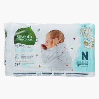 Seventh Generation Baby Diapers - Set of 36