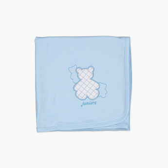 Juniors Applique Detail Receiving Blanket - 80x80 cms