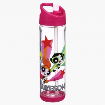 1b4990c2bb1 PowerPuff Girls Print Water Bottle with Flip Top