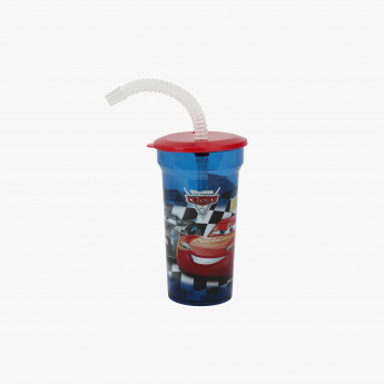 Cars Print Sipper Water Bottle