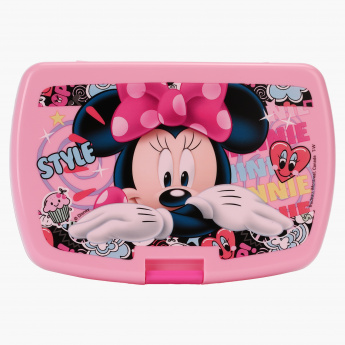 Minnie Mouse Print Latch Sandwich Box