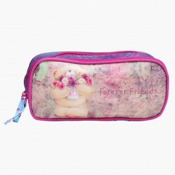 Forever Friends Printed Pencil Case with Dual Compartments