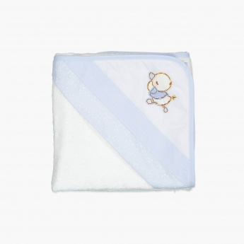 Juniors Embroidered Towel with Hood - 80x80 cms