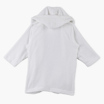 Juniors Long Sleeves Hood Bath Robe