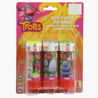 Trolls Soap Bubbles Toy - Set of 3