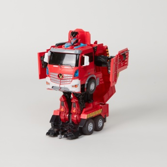 Troopers Velocity Transformer Toy Fire Truck with Sound Control