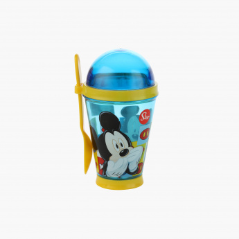 Mickey Mouse Print Snack Container