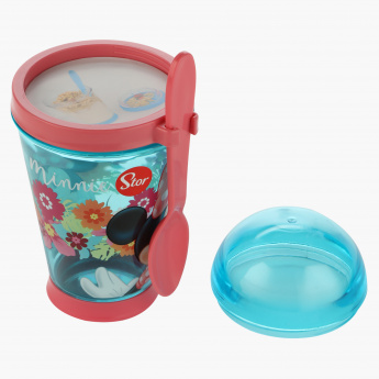 Minnie Mouse Print Snack Container