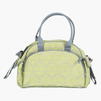 Summer Infant Printed Diaper Bag with Zip Closure and Changing Mat