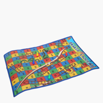 Juniors Snakes and Ladders Carpet Game
