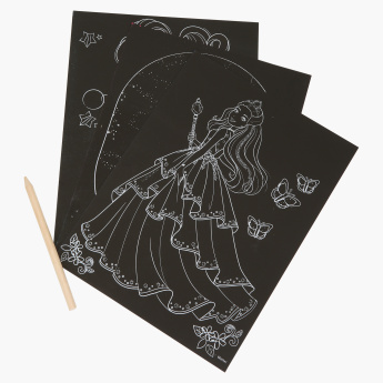 Barbie Scratch Art Set