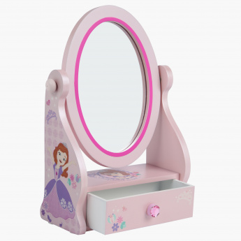 Sofia the Princess Printed Drawer with Mirror