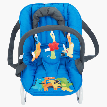 Juniors Printed Baby Rocker with Toys