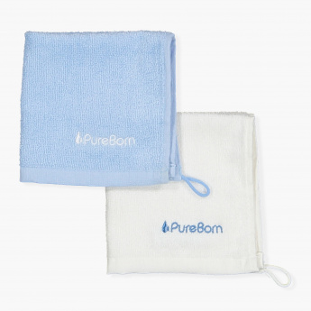 Pure Born Bamboo Washcloths - Set of 2