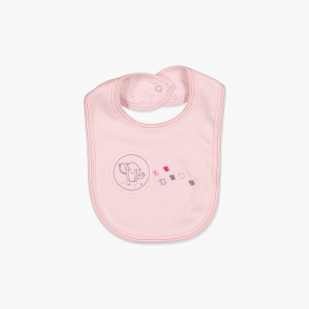 Juniors Embroidered Snap Bib