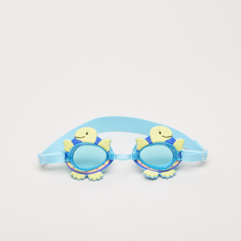 Juniors Swimming Goggles with Turtle Applique