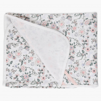 Floral Print Receiving Blanket - 75x100 cms