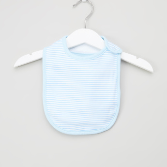 Juniors Printed 3-Piece Cotton Bib Set