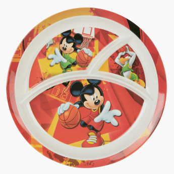 Mickey Mouse Printed Plate with Sections