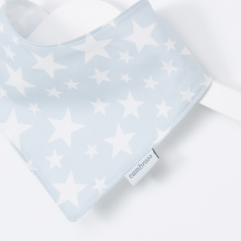 Giggles Printed Bib Bandana with Press Button Closure