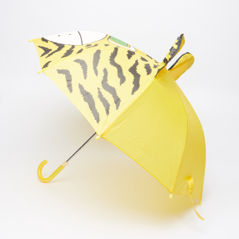 Printed Umbrella with Ear Appliques