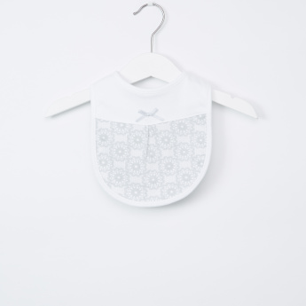 Juniors Printed Bib with Snap Closure