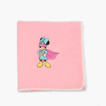 Minnie Mouse Printed Receiving Blanket - 76x102 cms