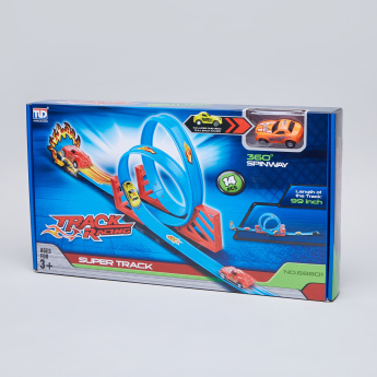 Pull Back Super Track Racer with Toy Car