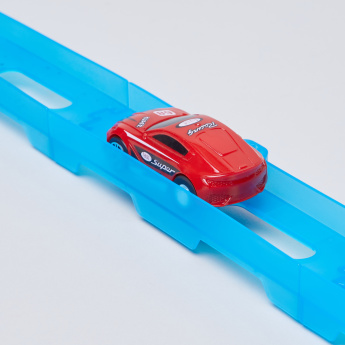 Pull Back Super Track Racer Set with Toy Car