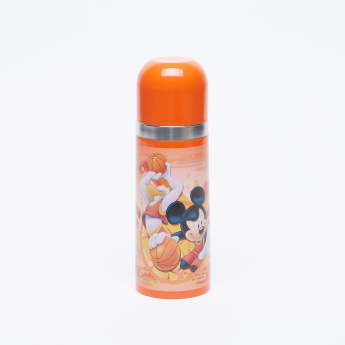 Mickey Mouse Printed Flask with Push Down Lid - 350 ml