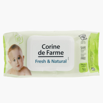 Corine de Farme Baby Fresh & Natural Wipes - Set of 62