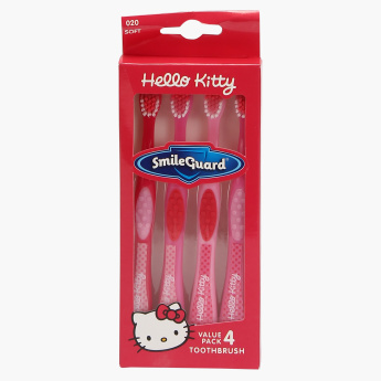 Hello Kitty Printed Toothbrush - Set of 4