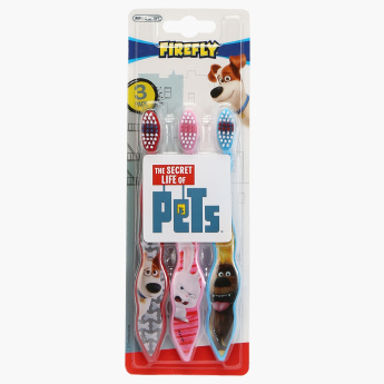 The Secret Life of Pets Printed Toothbrush - Set of 3