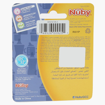 Nuby Non-Drip Standard Neck Teats - Set of 2