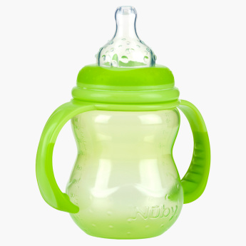 Nuby Non-Drip Wide Neck Feeding Bottle  - 240 ml