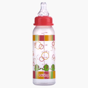 Nuby Printed Round Feeding Bottle - 240 ml